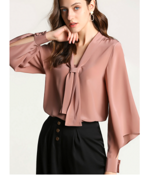 Блузка из шелкового крепа BLU004