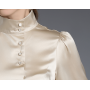Блузка из шелкового стрейч- атласа высокой плотности BLU007