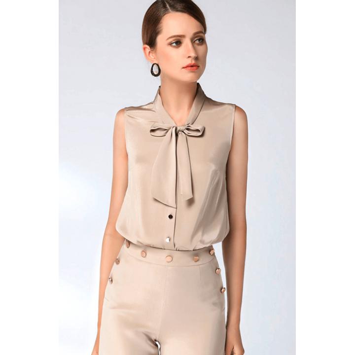 Блузка из шелкового крепа BLU013