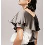 Блузка из шелкового стрейч-атласа BLU016