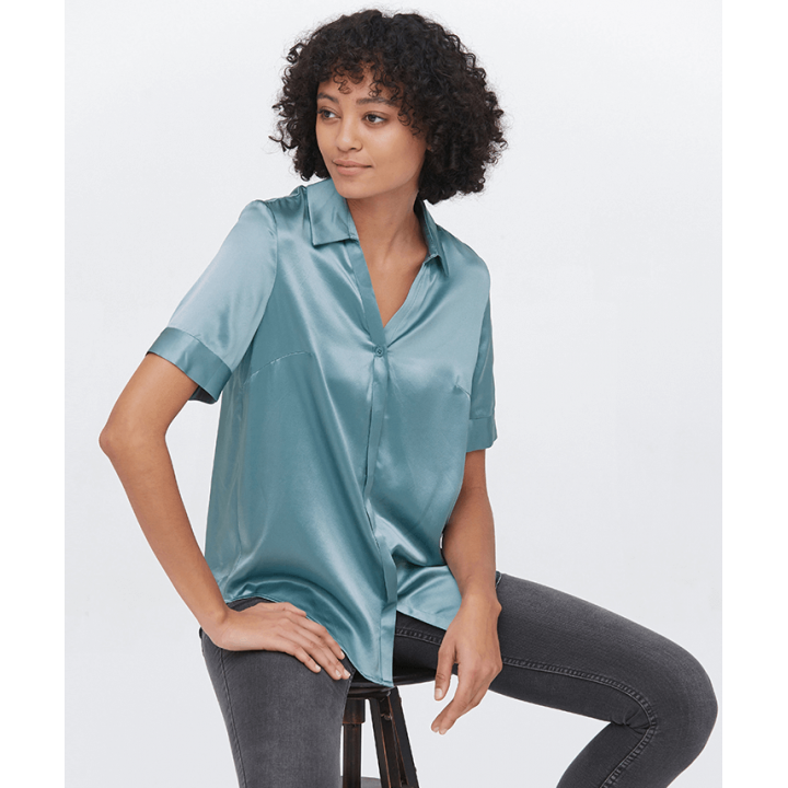 Блузка из натурального шелка BLU018A