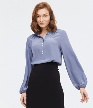 Блузка из шелкового крепа BLU019