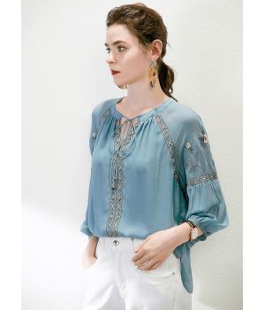 Блузка из натурального шелка BLU026