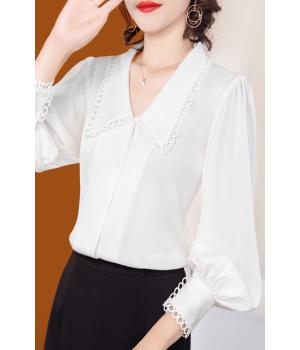 Блузка из шелкового крепа BLU027