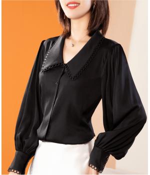 Блузка из шелкового крепа BLU027A
