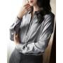 Блузка из шелкового атласа BLU028