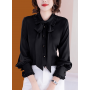 Блузка из шелкового крепа BLU029
