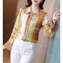 Блузка из шелкового крепа BLU030