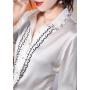 Блузка из натурального шелкового стрейч-атласа BLU034