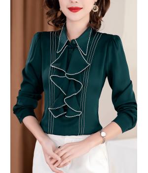 Блузка из натурального шелкового стрейч-крепа BLU036