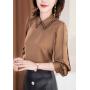 Блузка из натурального шелкового стрейч-крепа BLU037