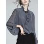 Блузка из шелкового крепа BLU040