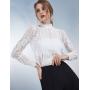Блузка из шелкового крепа с вышивкой BLU042
