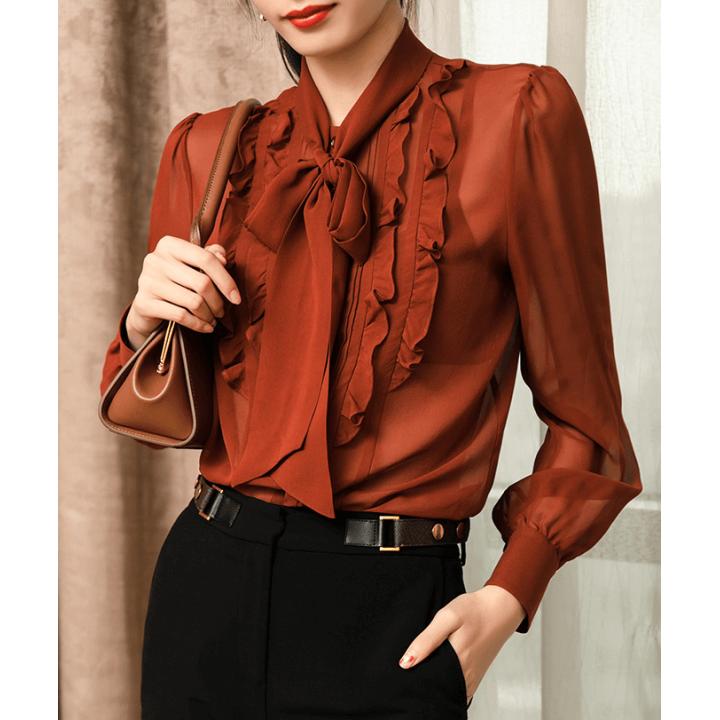 Блузка из шелкового шифона BLU044