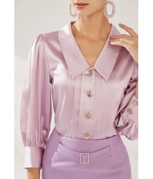 Блузка из шелка супер-высокой плотности BLU046A