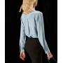 Блузка из шелкового крепа супер-высокой плотности BLU052