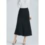 Длинная юбка из двойного крепа высокой плотности BRU014