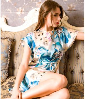 Домашнее платье из шелкового атласа DPL001
