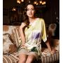 Домашнее платье из шелка с ручной росписью DPL002