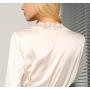 Длинный халат из шелкового стрейч-атласа - HAL006