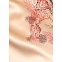 Халат с ручной росписью из шелкового атласа HAL016