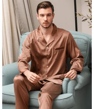 Пижама из шелкового стрейч-атласа высокой плотности PIJ050