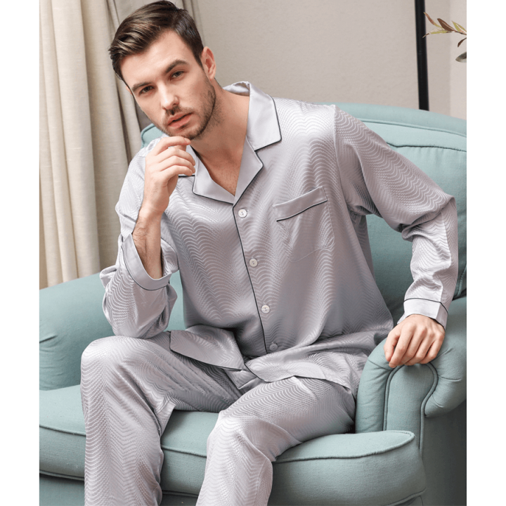Пижама из шелкового стрейч-атласа высокой плотности PIJ050A