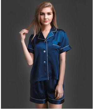 Пижама из натурального шелкового атласа PIJ003