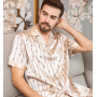 Пижама из натурального шелкового стрейч-атласа PIJ022