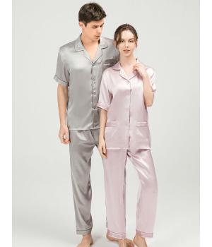 Мужская и женская шелковые пижамы PIJ028