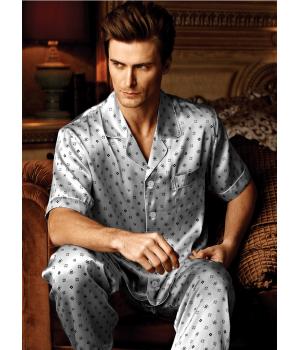 Пижама из натурального шелкового атласа высокой плотности PIJ030