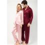 Мужская и женская шелковые пижамы PIJ033