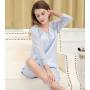 Шелковая пижама с кружевной отделкой PIJ045