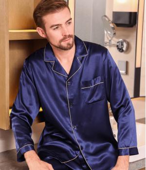 Пижама из натурального шелкового атласа PIJ051A