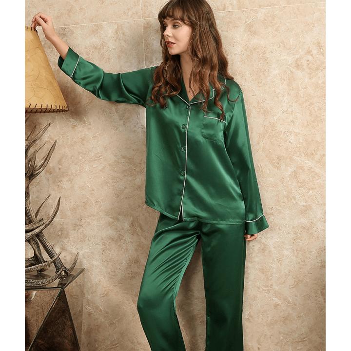 Пижама из натурального шелкового атласа PIJ062E