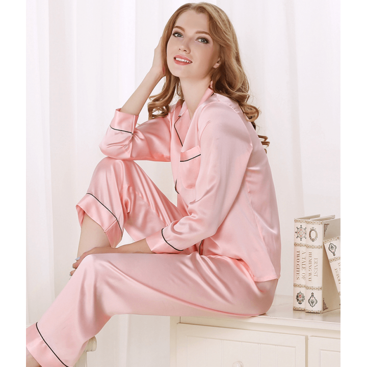 Пижама из натурального шелкового атласа PIJ062A