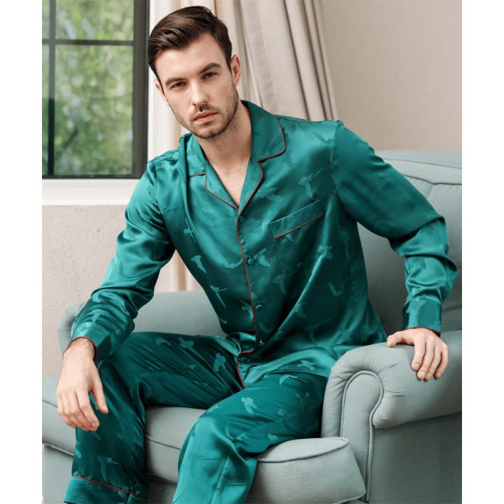 Пижама из шелкового атласа высокой плотности PIJ066B