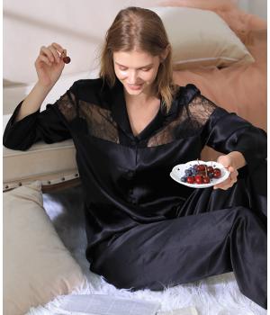 Пижама из натурального шелкового атласа PIJ068