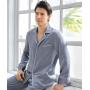 Пижама из натурального шелкового атласа высокой плотности PIJ069A