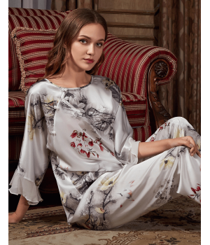 Пижама из натурального шелкового атласа PIJ073
