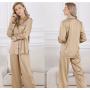 Пижама из натурального шелкового стрейч-атласа высокой плотности PIJ074