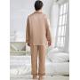 Пижама из натурального шелкового атласа высокой плотности PIJ077