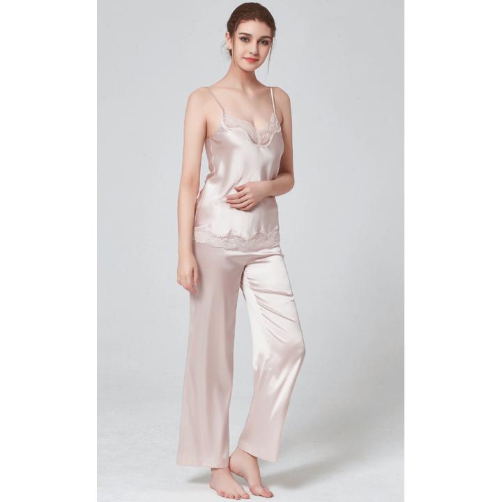 Пижама из шелкового стрейч-атласа высокой плотности PIJ082