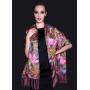 Двойной атласный шелковый шарф 180х55 см SHR-013