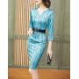 Платье из шелкового стрейч-атласа PLA001