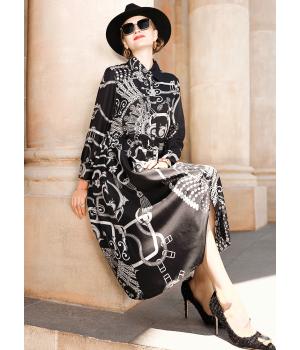 Платье из шелкового атласа высокой плотности PLA002