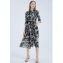 Платье из шелкового крепдешина PLA003