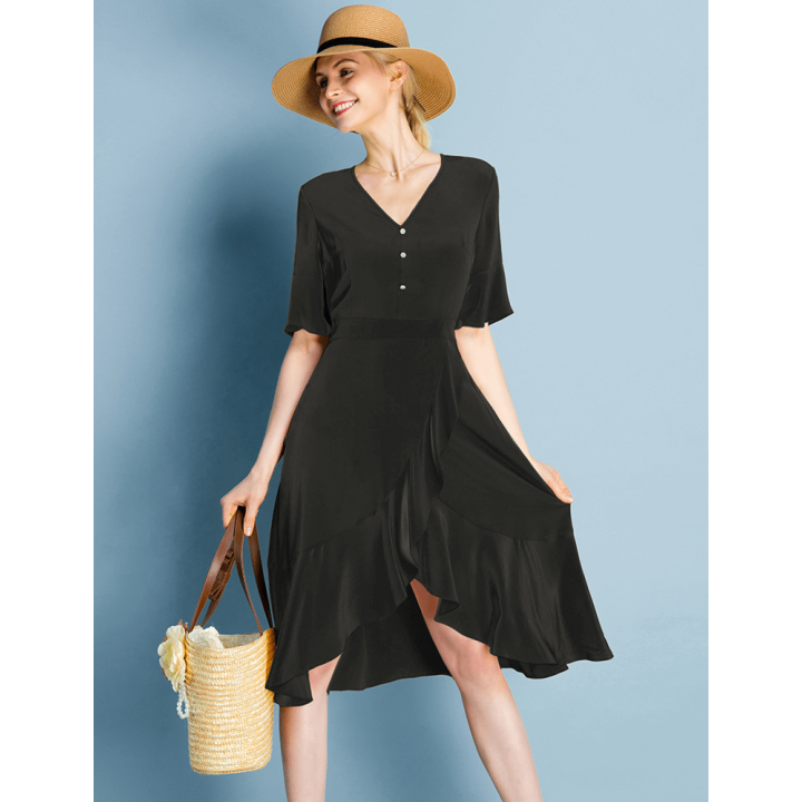 Платье из шелкового крепа PLA005A