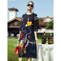 Платье из шелкового крепа PLA006