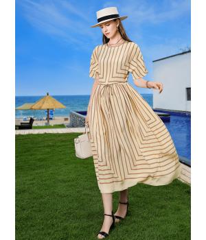 Платье из шелкового креп-шифона PLA007